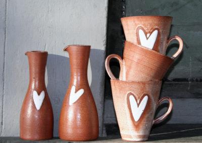 Ulrika Ström keramik med hjärtan